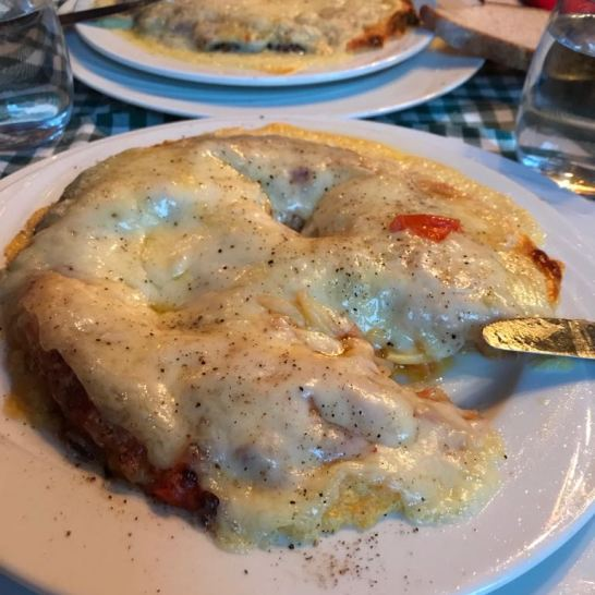 Rosti with too little cheese
