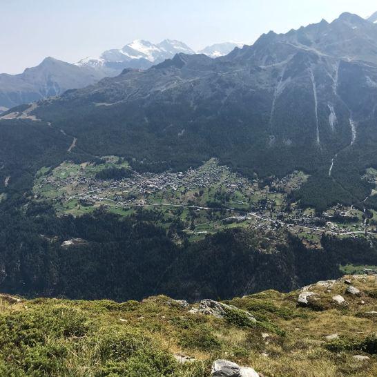 view from Twara point Grachen n Gasenried n Ried Glacier