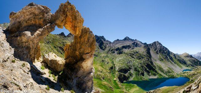 Arc de la Tortisse and lac de Vens
