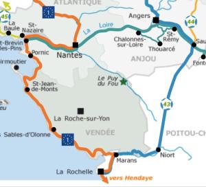 route combination VD VF Loire