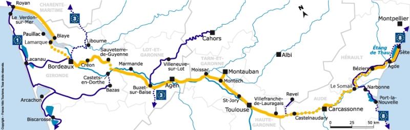 canal des deux mers map