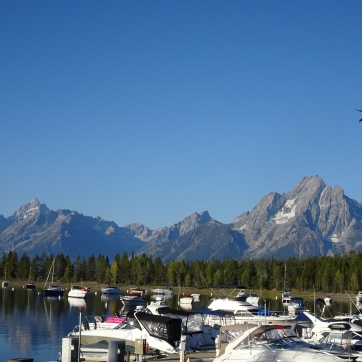Grand Tetons from Colter Bay