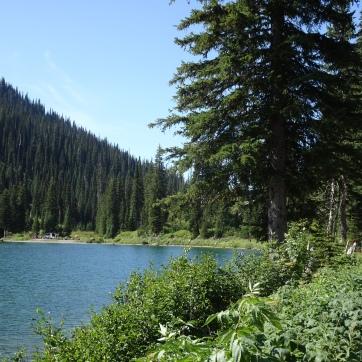 Redmoon lake with support van