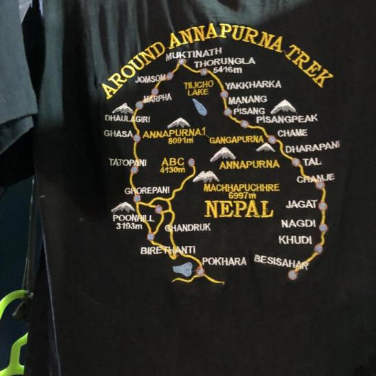 ANNAPURNA trek simple t shirt