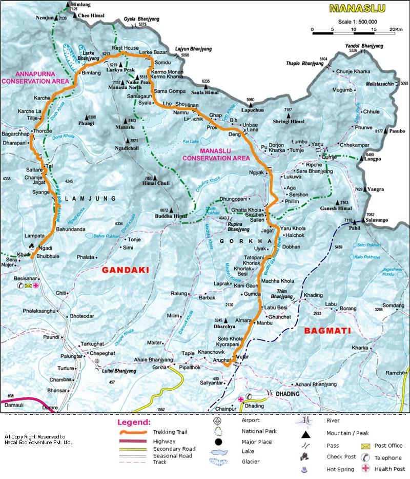 manaslu-circuit-trekking-map