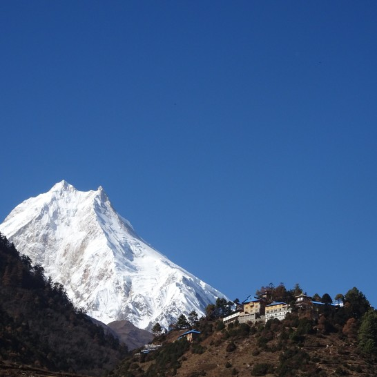 MANASLU from Shyala